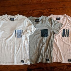 Abercrombie And Fitch Crew Neck Pocket T Shirts